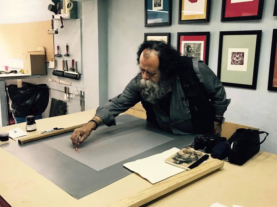 Litografía Waterless. Un trabajo de investigación-producción de Daniel Manzano